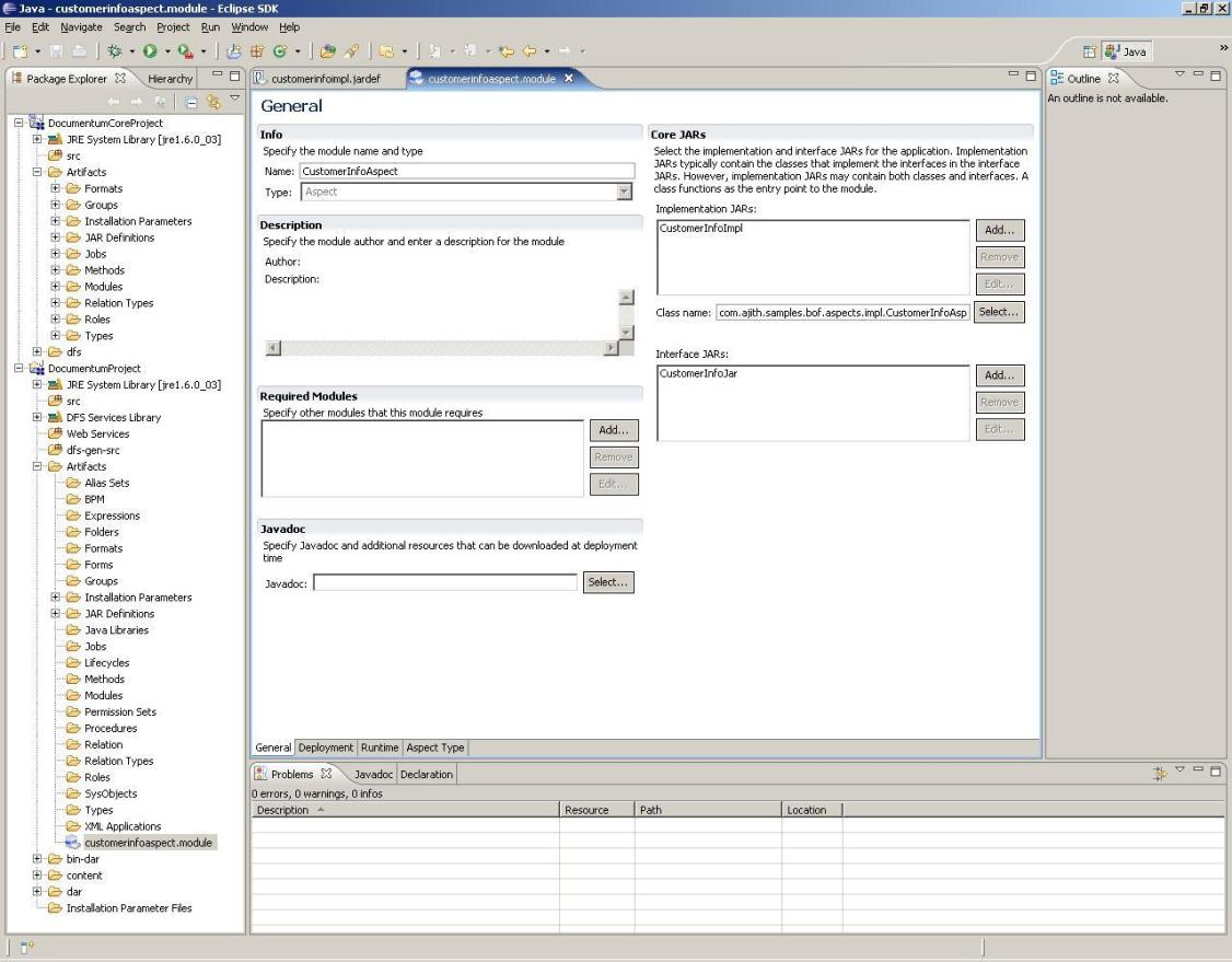 Documentum Composer Screenshot