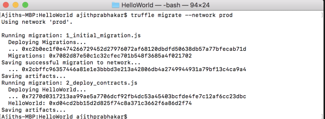 HelloWorld deployment success